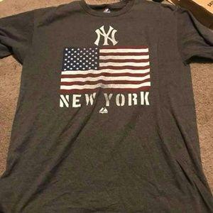Majestic Shirts - American flag yankees jeter shirt